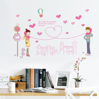 Couple's living room bedroom bedside wall decoration sticker wall stickers