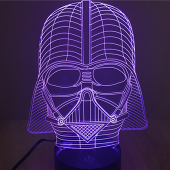 Creative 3D illusion Lamp LED Night Light Dark Knight AcrylicColorful Gradient Atmosphere Lamp Novelty Lighting Price Philippines