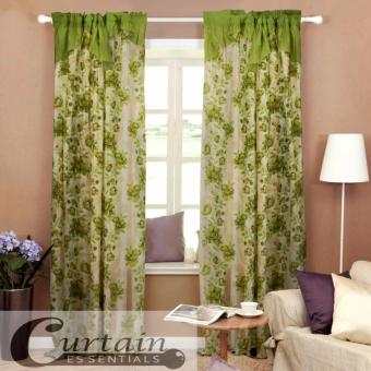 Curtain Essentials Daffodil Green Set of 2