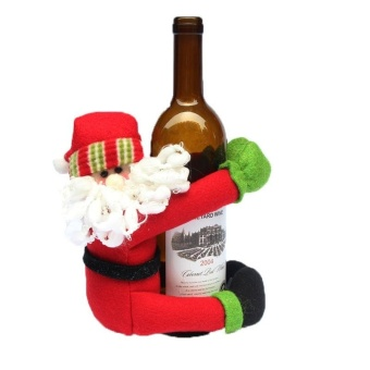 Cute Doll Wine Bottle Hold Cover Party Christmas Table Decoration -intl