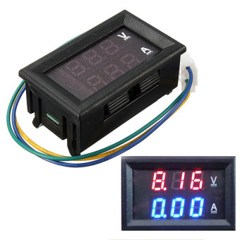 DC 4.5-30V 0-50A Dual Digital LED Volt Meter Ammeter Voltage AMPPower Meter 12V (Black) - Intl Price Philippines