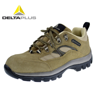 Deltaplus leather anti-stab wear-resistant safety shoes anti-smashing safety shoes