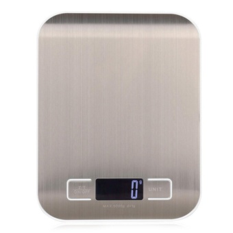 Digital Kitchen Scale Multifunction Food Scale, 11 lb 5 kg, Silver,Stainless Steel With Battery