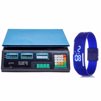 Digital Price Computing Scale (Black) with LED Watch Color May Vary