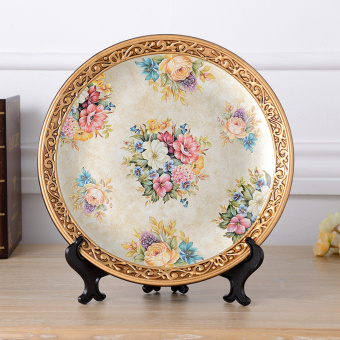 Dila classical home living room furnishings ceramic Decorative Plate