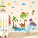 Dinosaur cartoon play field animal world Wall sticker Wall