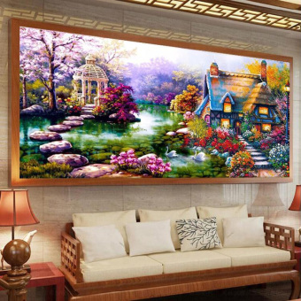DIY 5D Diamond Painting Cross Stitch Kits Diamonds Embroidery 75cm*35cm