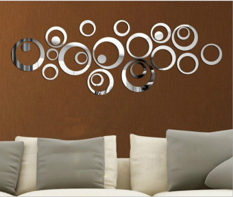 DIY Crystal Mirror Circles Home Decor Wall Stickers Decals Graphics