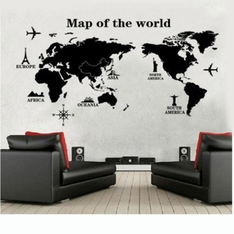 DIY World Map Removable Vinyl Quote Art Wall Sticker Decal Mural Decor - intl