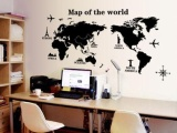 Presyo ng diy world map removable vinyl quote art wall sticker decal diy world map removable vinyl quote art wall sticker decal mural decor intl 2 gumiabroncs Gallery
