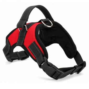 Dog Harness Adjustable Pet Dog Big Exit Harness Vest Collar Strapfor Small and Large Dogs Pitbulls - Red (M) - intl
