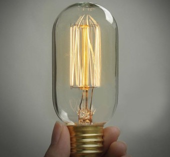 Edison Vintage Antique Style E27 T45 Classical 40W/220W Decor Light Lamp Bulb