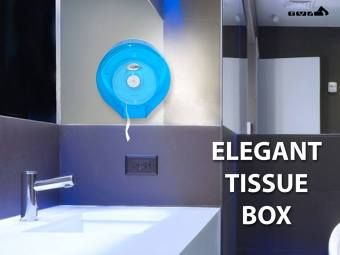 Elegant Tissue Box Tissue Holder Dispenser (blue)