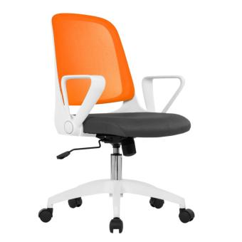 Ergodynamic EMC-16ORG Mid Back Mesh Conference Office Chair witharmrests (Orange)