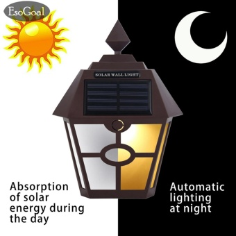 EsoGoal Bright Solar Power Outdoor LED Light Motion Activated Light for Garden Patio Path Pool Lighting (Warm White) - intl