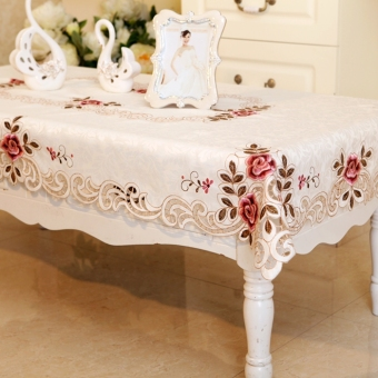 European-style Idyllic Cloth Art Embroidered Tablecloth