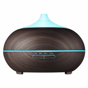 EVEOM EM-1518B 300ml Aroma Essential Oil Diffuser, Wood GrainUltrasonic Cool Mist Humidifier for Office Home Bedroom Living RoomStudy Yoga Spa - intl