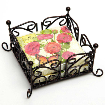 EVERGREEN retro American Iron printed napkin paper holder towel rack