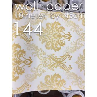 Fashion Gold Floral Wall Paper Sticker 10m x 45cm