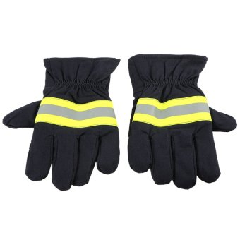 Fire Protective Gloves Anti-fire Equipment Fire Proof WaterproofHeat -Resistant Flame-retardant Gloves With Reflective Strap - intl
