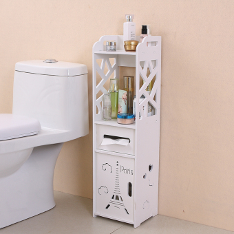 Floor bathroom toilet side cabinet bathroom shelf