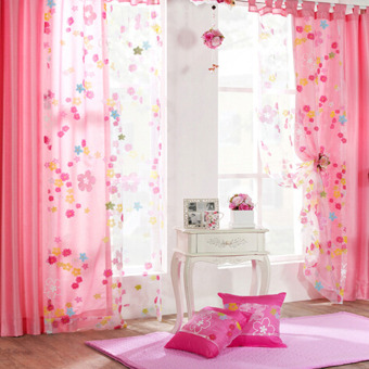 Flower Floral Door Window Curtain Drape Panel Scarf Voile Room