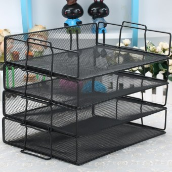 Fortitude metal data multi-organizing file rack storage rack