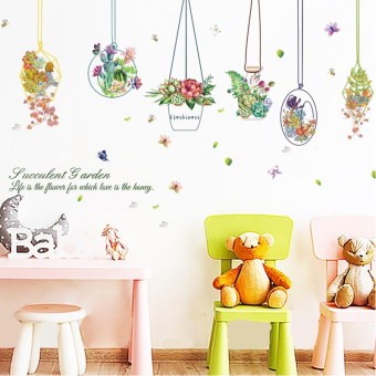 Fresh romantic living room bedroom wall stickers