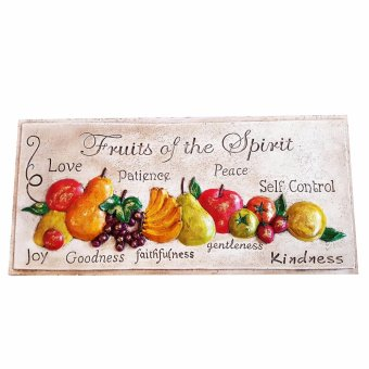Fruits of the Holy Spirit Kitchen Frame (Made of Fiberglass Resin)by Everything About Santa (Christmas decoration and giftsuggestion) Religious Item