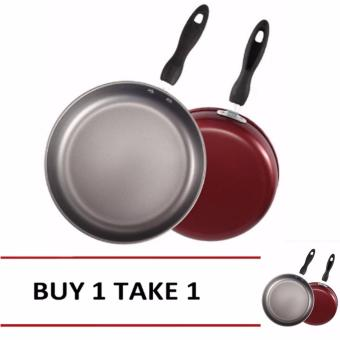 Fry Pan 26cm Non-Stick with Handle (Red)-1 Buy1 Take1