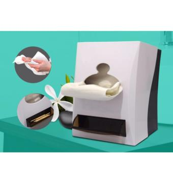 GaopinliCLEAN Pop Up Tissue Dispenser with Toothpick Holder (White)