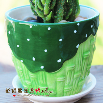 Garden indoor plants small Bonsaii flower holder ceramic pots