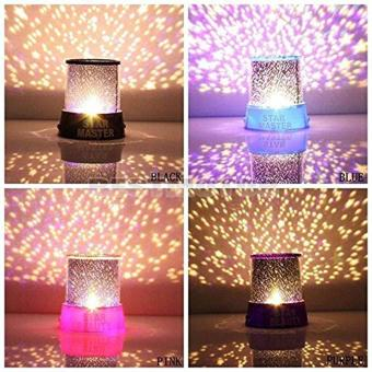 Generic Colorful Twilight Romantic Sky Star Master Projector LampStarry LED Night Light Kids Bedroom Bed Light for Christmas Light(Purple)