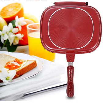 GMY Happy Cou Double Grill Pan 30cm (Red)