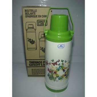 Golden Deer 9611/9608 Thermos Vacuum Flask 2.2Liters - Green