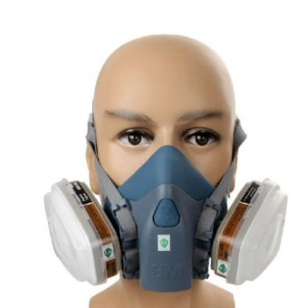 Good Service 7 Piece Suit Half Mask Respirator Painting Spraying Face Gas Filters for 3M 7502