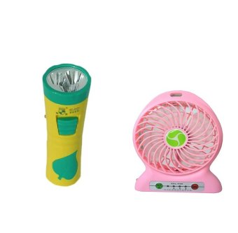 GT-8081 Rechargeable Led Highshiny Flashlight & Money DetectorTorch WITH Portable Lithium Battery Fan with Power Bank Function(colors may vary) Price Philippines