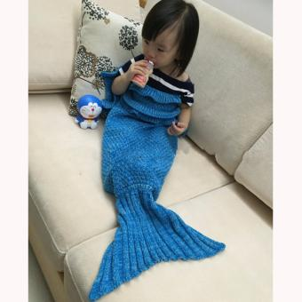 Harga Getek Mermaid Tail Knitted Wave Blanket 95 X 210cm 6 Intl Source Harga MOON STORE
