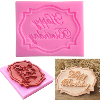 Happy Birthday Silicone Mould Cake Fondant Decorating Baking Mold DIY Tool
