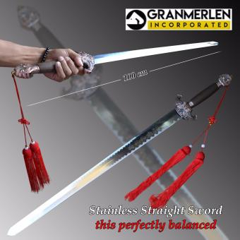 Hard Stainless metal Sword with Highlighted Designed Samurai Chinese Swords (100*cm)