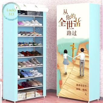 High Quality 10 Layers 3D Shoe Cabinet (Sweet Heart)