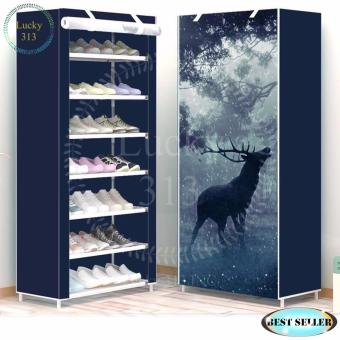 High Quality 8 Layers 3D Shoe Cabinet Reindeer