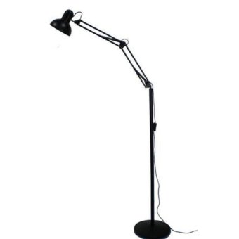 High Quality Adjustable Long Standing Floor Lamp (Black)