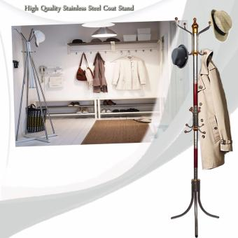 High Quality Stainless Steel Coat Stand (Silver/Red)