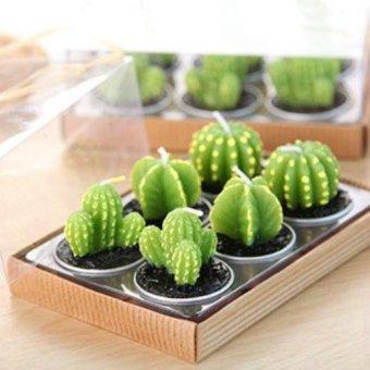 Home Decor Rare Mini Cactus Candle Table Tea Light Home Garden Simulation Plant Candle Decorative Wedding