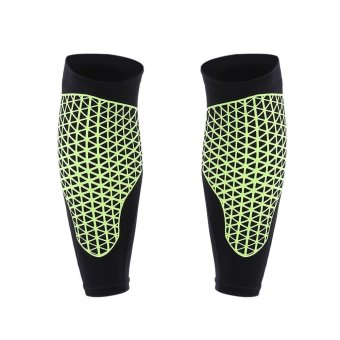 Home Living Knee Elbow Pads Pair Of Knee Compression Sleeves LegSupport Guard Wrap Pad Brace Safety Equipment For Basketball(BlackAnd Green) - intl