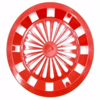 Homex Party Plastic Paper Plate Holder 12 Pcs Set (Red)