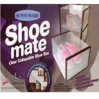 Homex Sunnyware Shoe Mate Clear Collapsible Shoe Box - Large