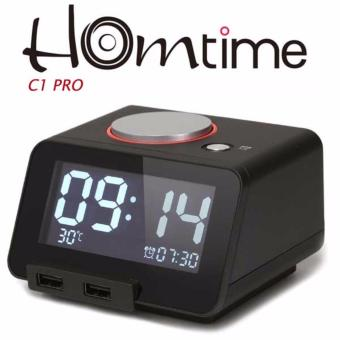 Homtime C1 Pro Alarm Clock, Bluetooth Speaker with ChargingFunction (Black)