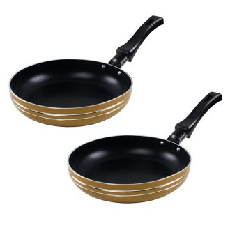 Homu premium colored frying pan 16cm (gold) set of 2